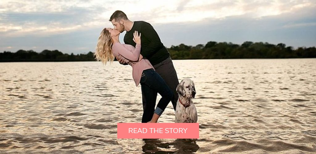 pet dog proposals engagement photo shoot