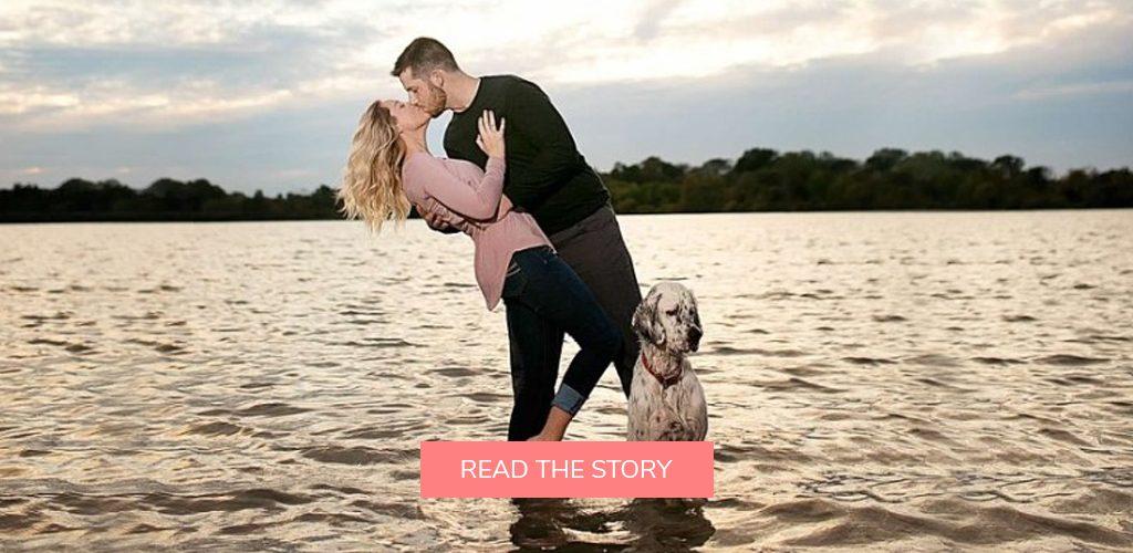 pet dog proposals engagement photo shoot