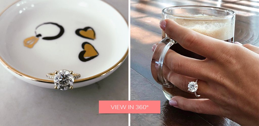 coffee pave engagement ring selfie deirdre roache