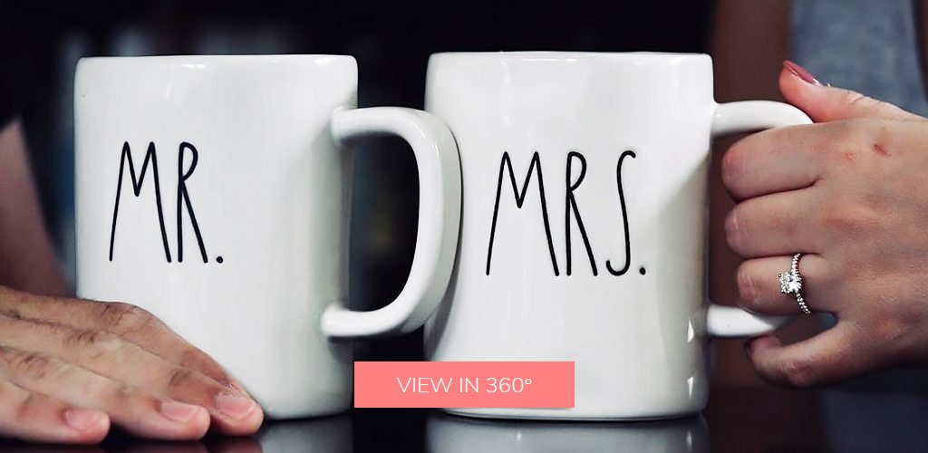 coffee pave engagement ring selfie mugs