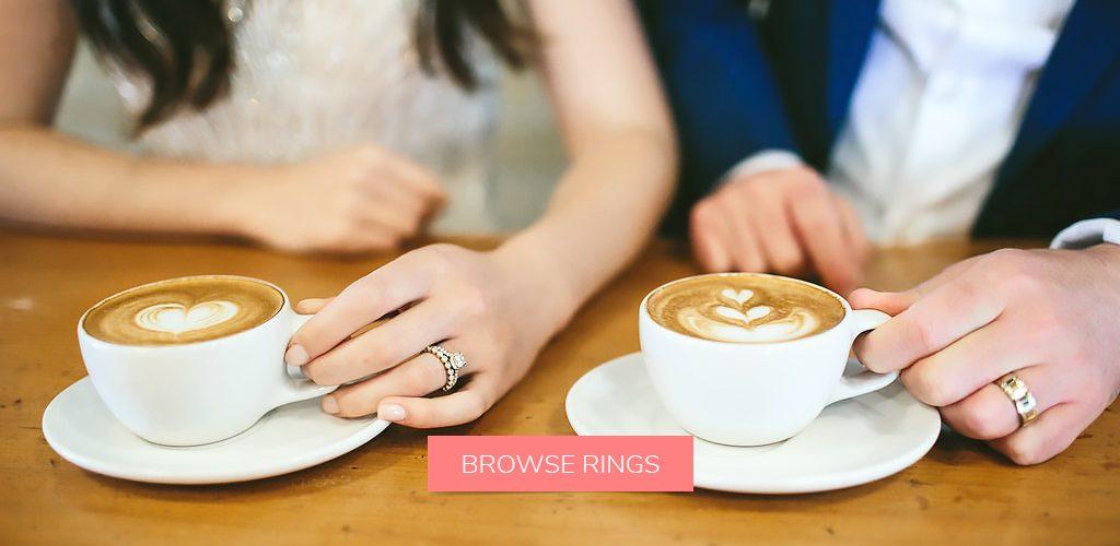 coffee vintage engagement ring selfie wedding