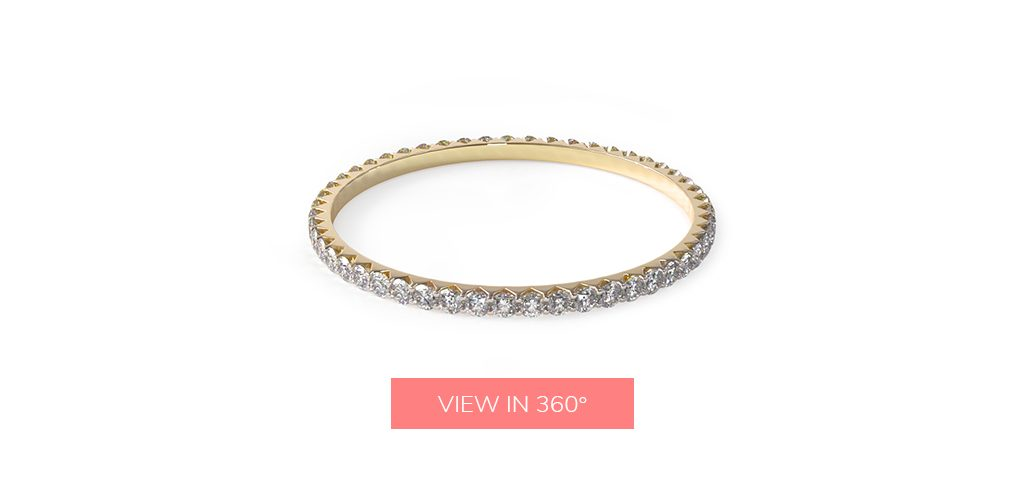 delicate diamond eternity wedding rings for women