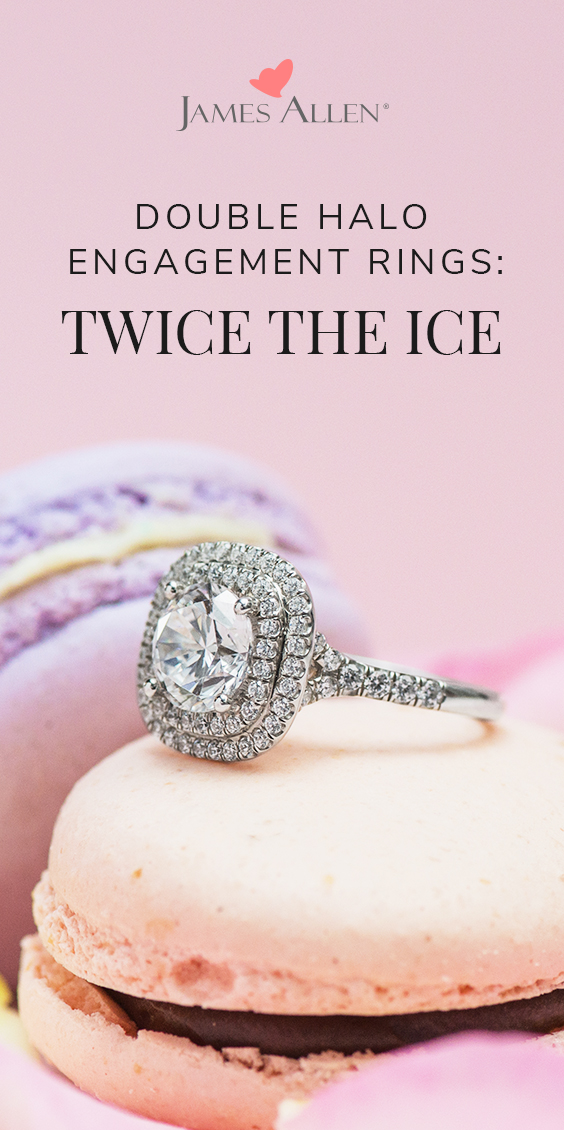 double halo engagement rings pinterest pin