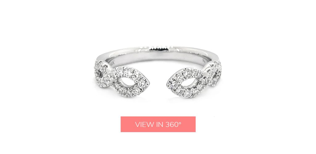 open unique diamond wedding rings for women