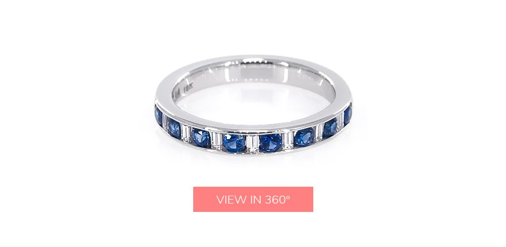 sapphire gemstone wedding rings for women