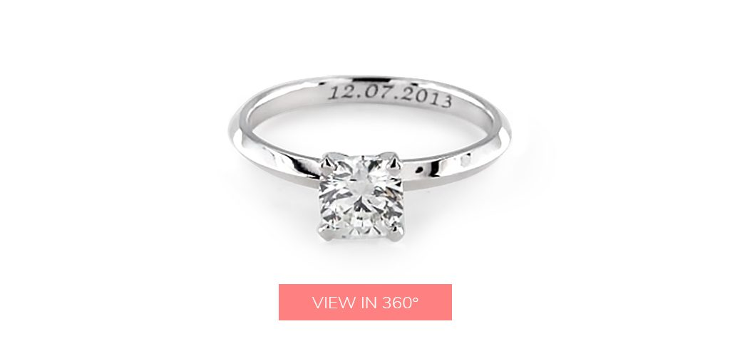 engagement ring engraving date inscription
