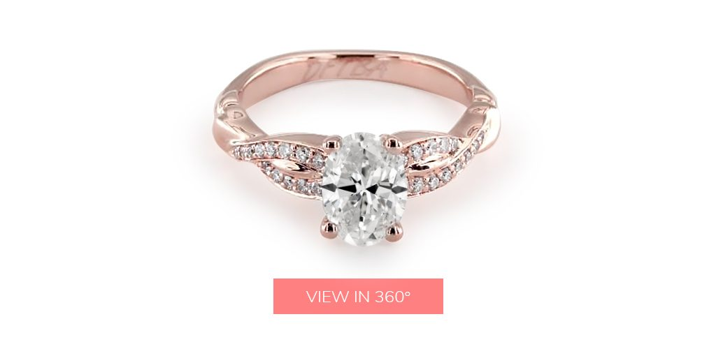 "engagement ring engraving ideas: rose gold ring inscribed with """"DFTBA"" (""Don't Forget To Be Awesome"")"""