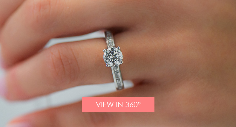 finding her engagement ring style baguette diamond
