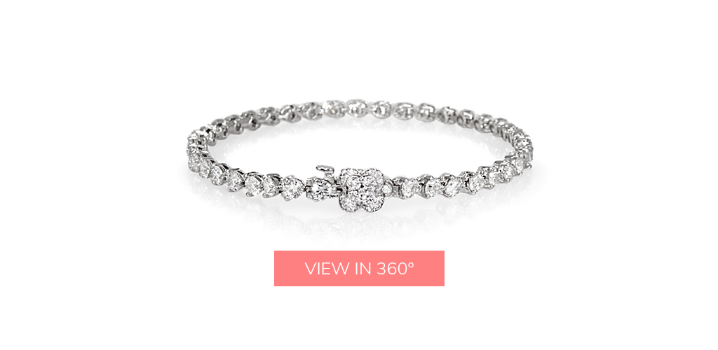flower tennis diamond bracelets