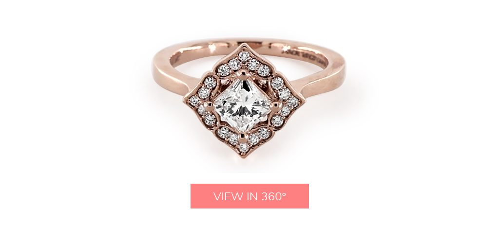 magnolia custom halo engagement rings under $3,000