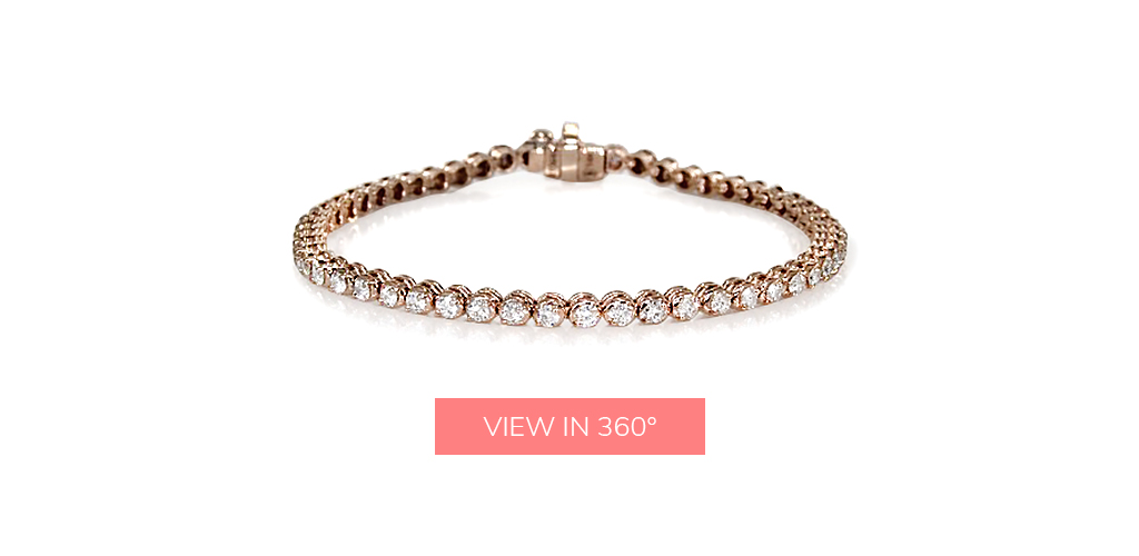rose gold tennis diamond bracelets