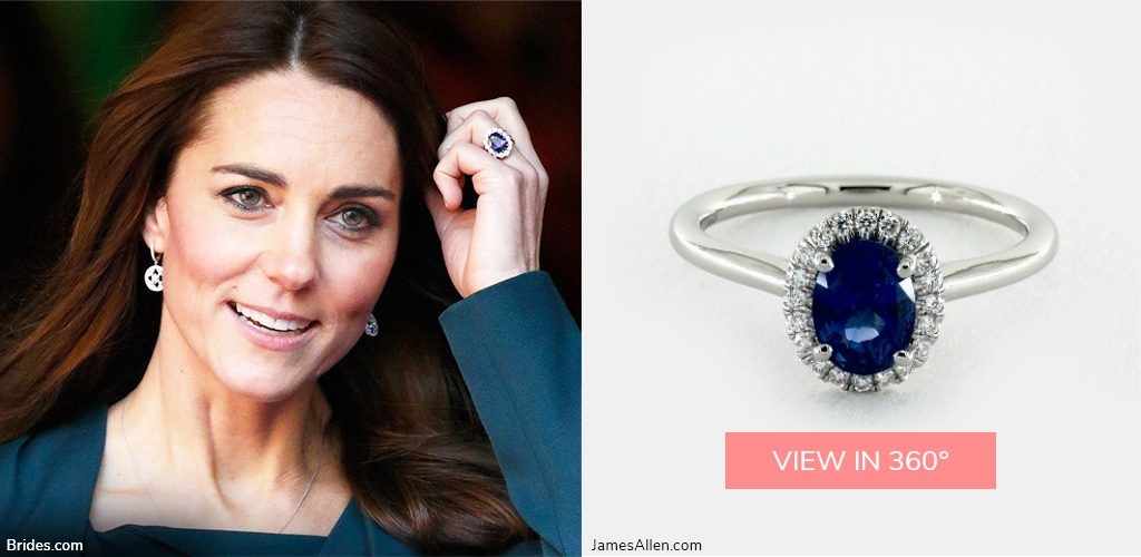 royal engagement rings kate middleton sapphire halo