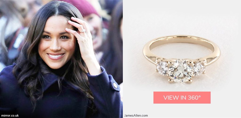 royal engagement rings meghan markle three stone