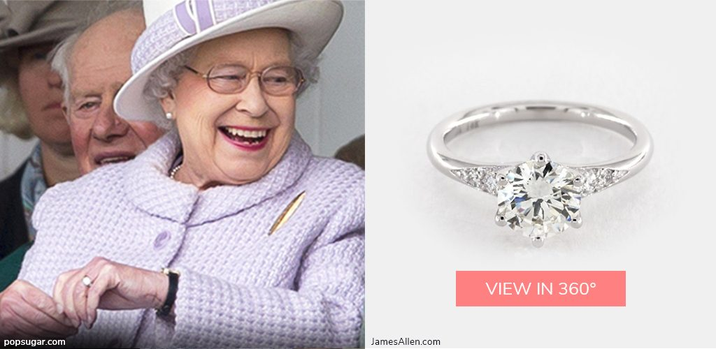 royal engagement rings queen elizabeth side stone