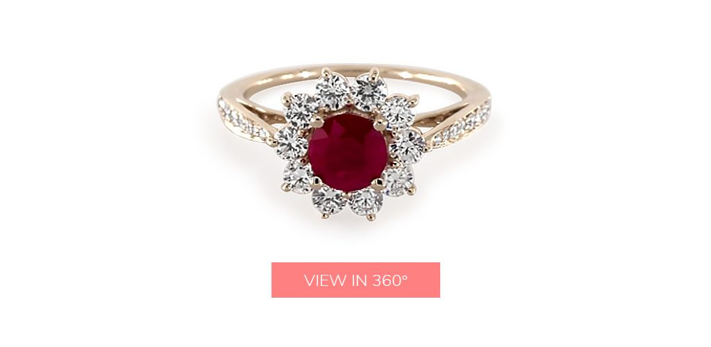 ruby gemstone star custom engagement rings under $3,000