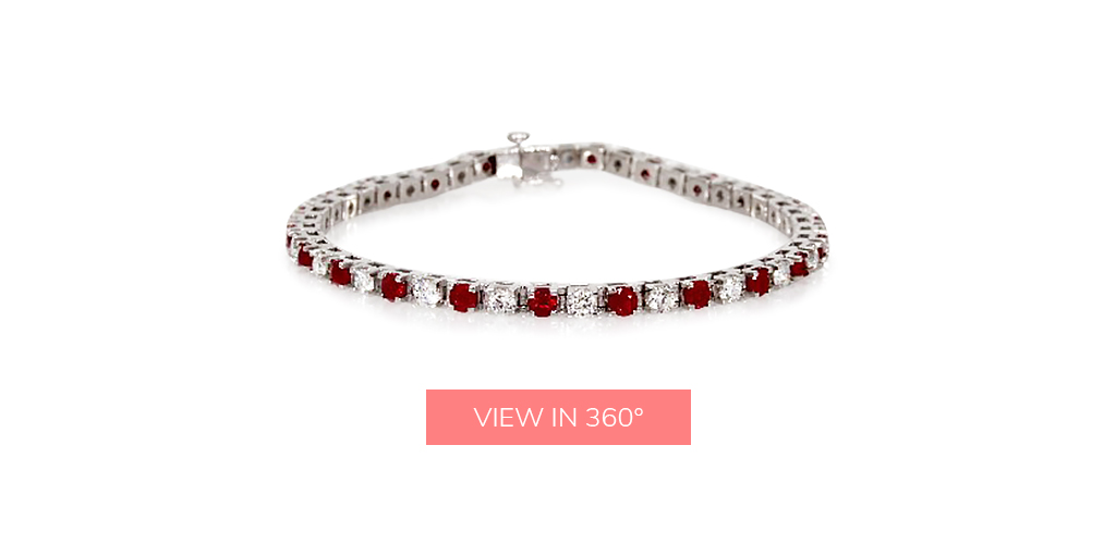 ruby gemstone tennis diamond bracelets
