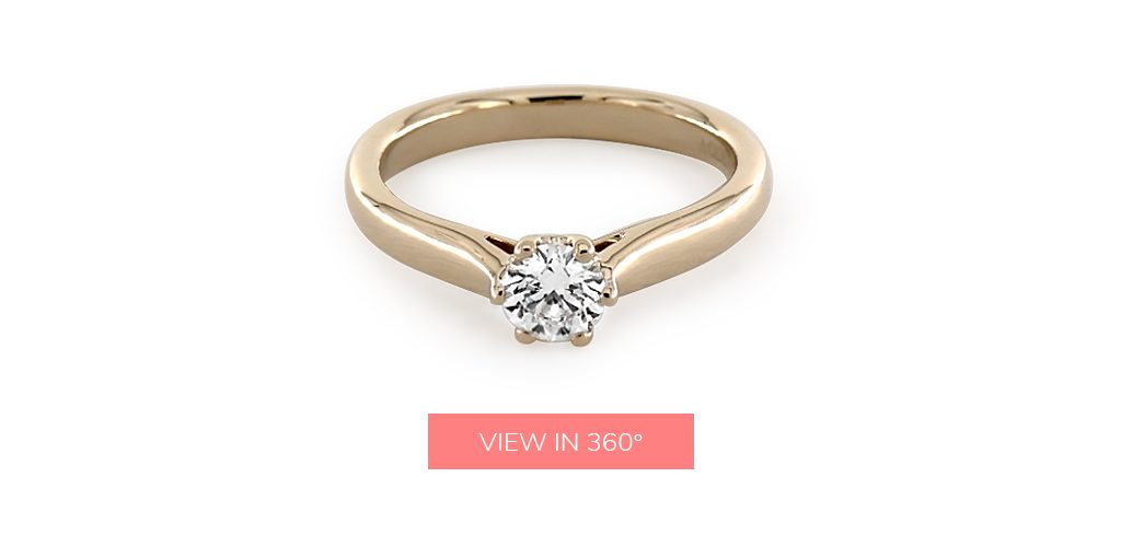solitaire custom engagement rings under $3,000