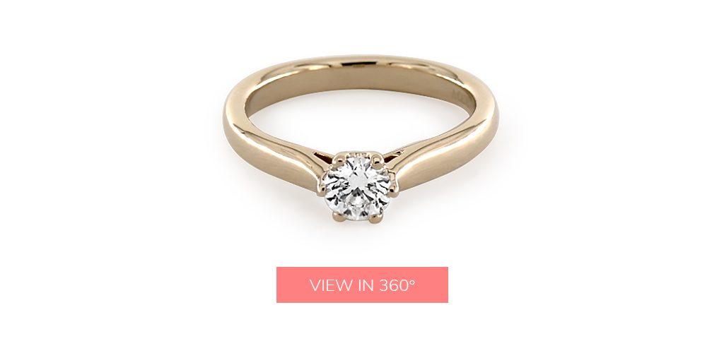 0.37 Carat D-VS1 Excellent Cut Round Diamond Intricate Basket Engagement Ring under $3,000