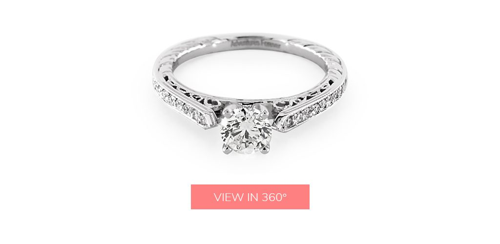 vintage detail custom engagement rings under $3,000