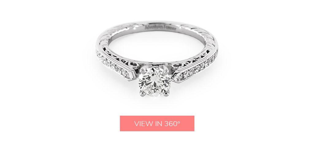 vintage detail custom engagement rings under $3,000