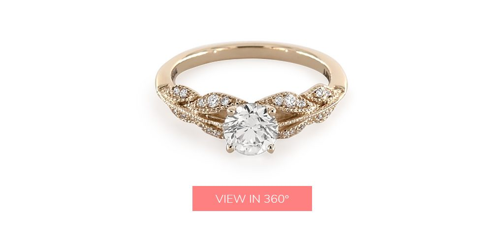 vintage custom engagement rings under $3,000
