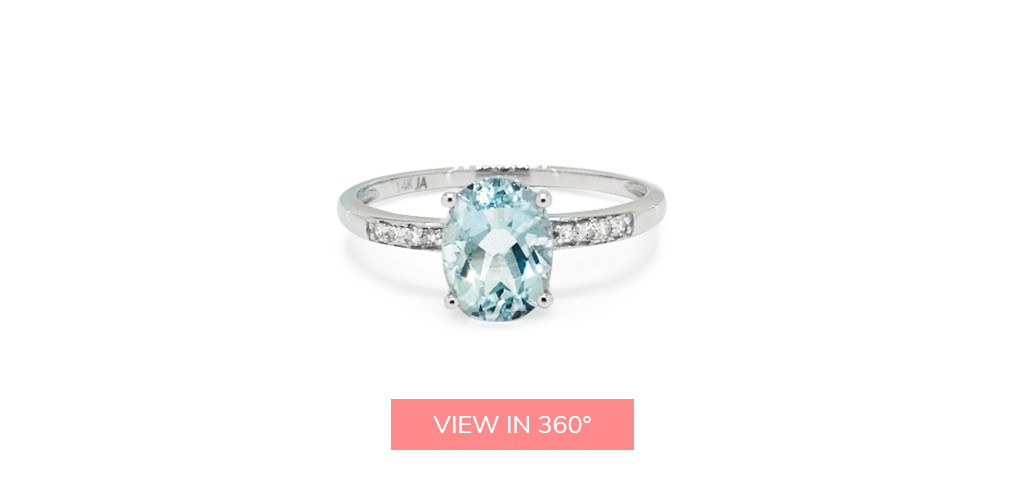 aquamarine pave gemstone engagement ring trends 2019
