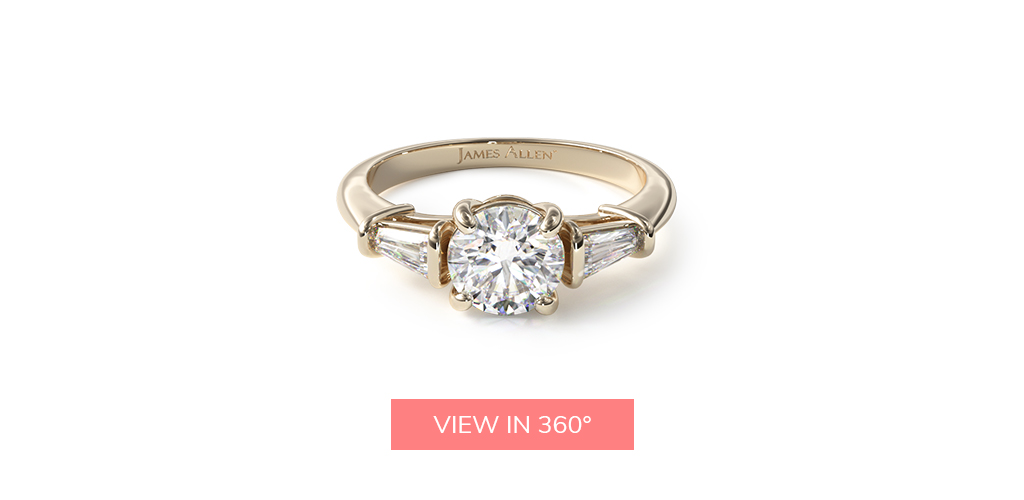 baguette yellow gold engagement ring trends 2019
