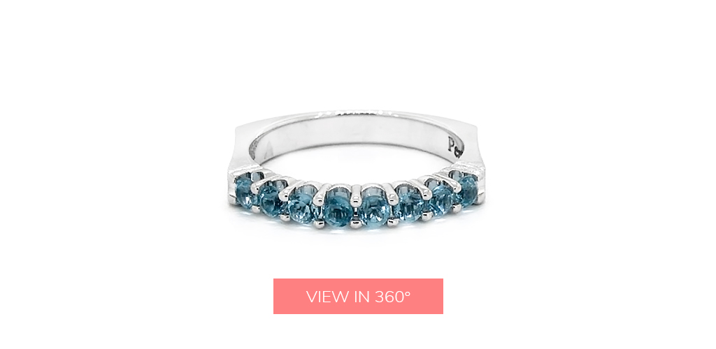 blue topaz december birthstone perfect fit stackable ring