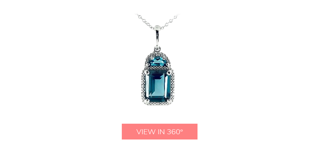 london blue topaz december birthstone pendant necklace