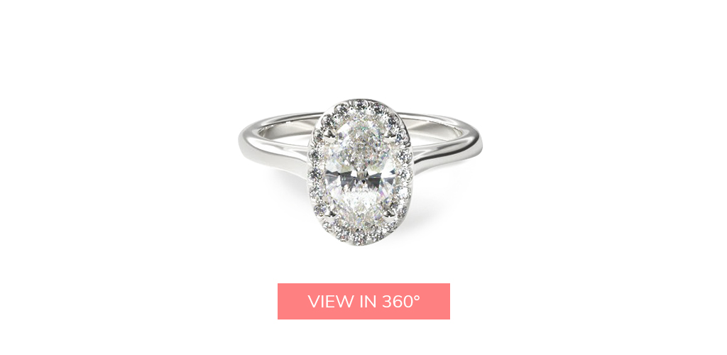 oval cut diamond halo engagement ring trends 2019