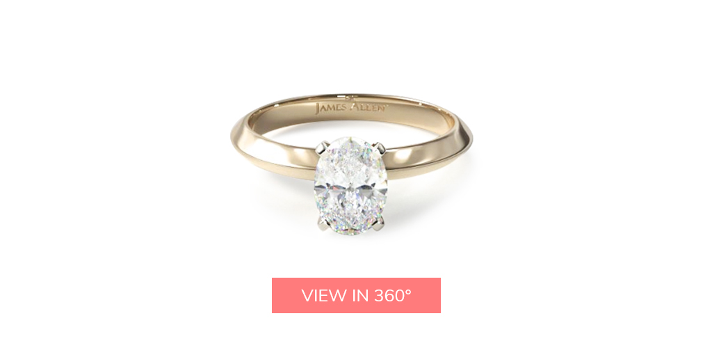 oval cut diamond solitaire engagement ring trends 2019