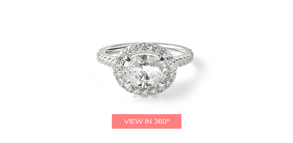 oval halo east west engagement ring trends 2019