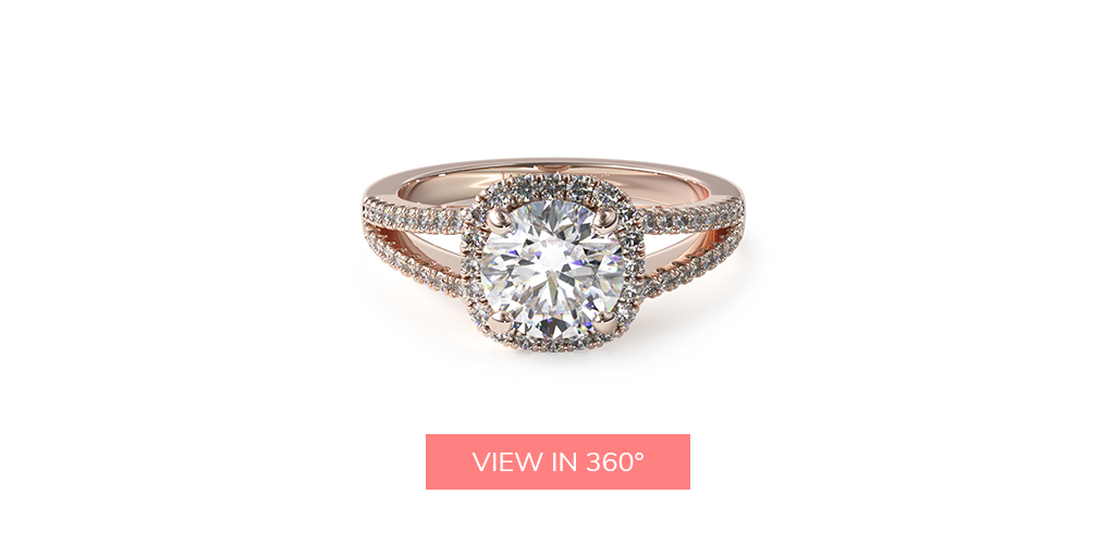 split shank halo engagement ring trends 2019