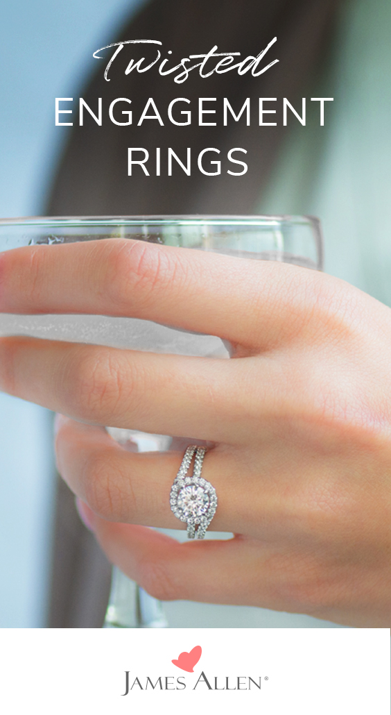 twisted engagement rings pinterest pin
