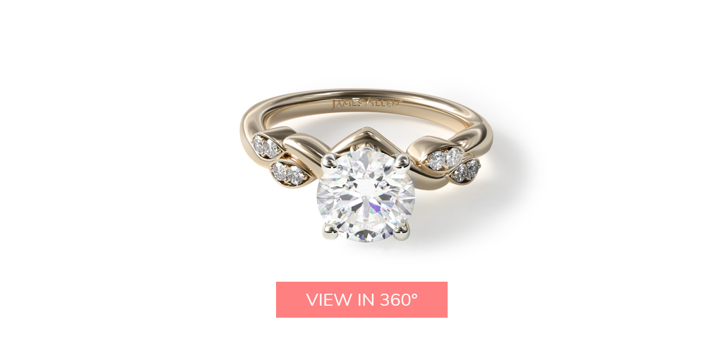 twisted engagement rings vine ring