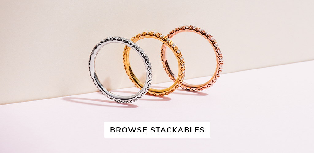unique engagement rings stackables