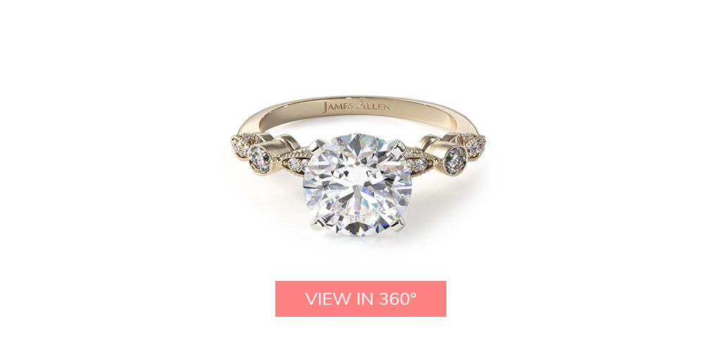 vintage yellow gold engagement ring trends 2019
