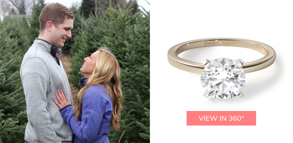 winter proposal ideas four prong comfort fit engagement ring