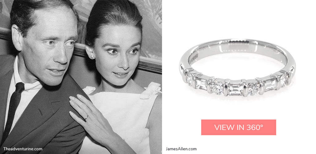 1950s engagement rings audrey hepburn diamond stackable