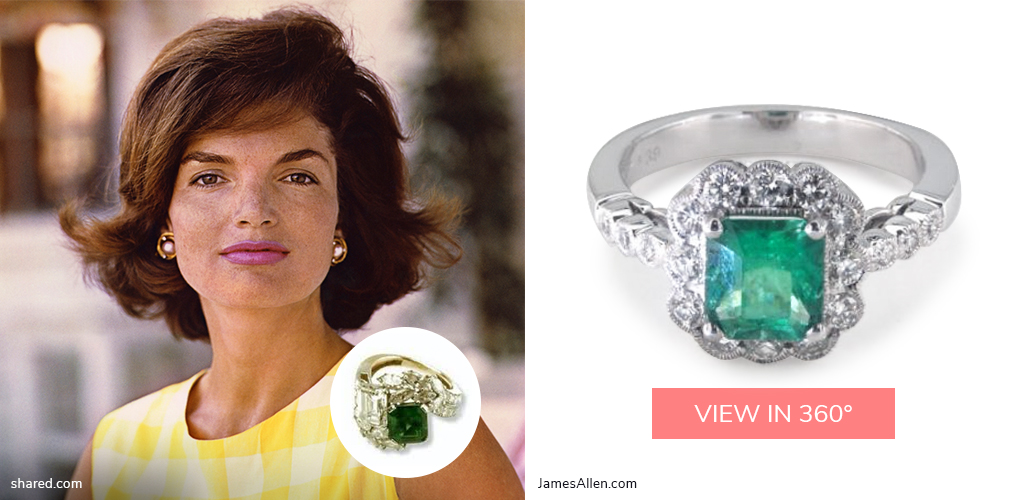 1950s engagement rings jackie kennedy emerald