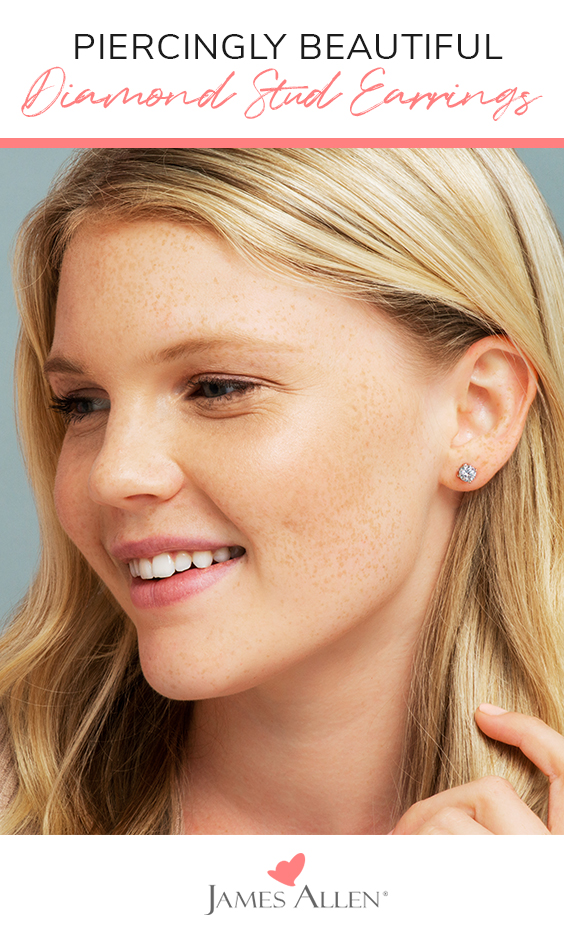 diamond stud earrings pinterest pin