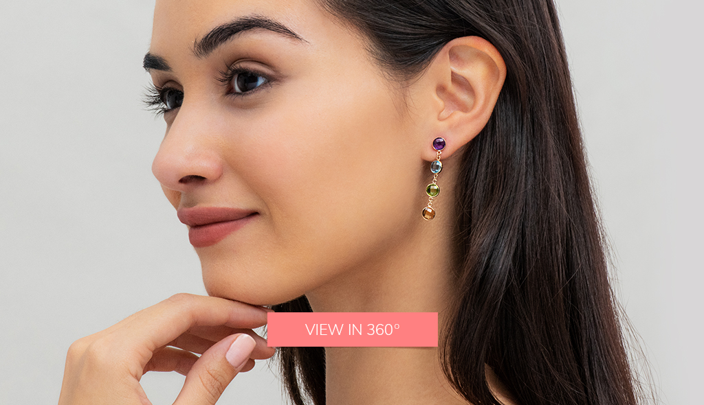 gemstone drop chain earrings fine jewelry trends 2019