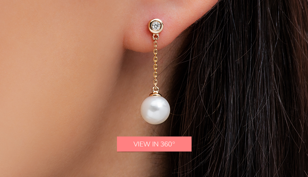 pearl chain drop earrings fine jewelry trends 2019
