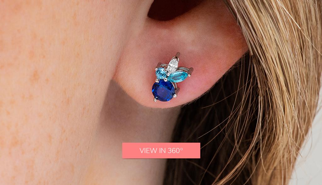 sapphire gemstone cluster fine jewelry trends 2019