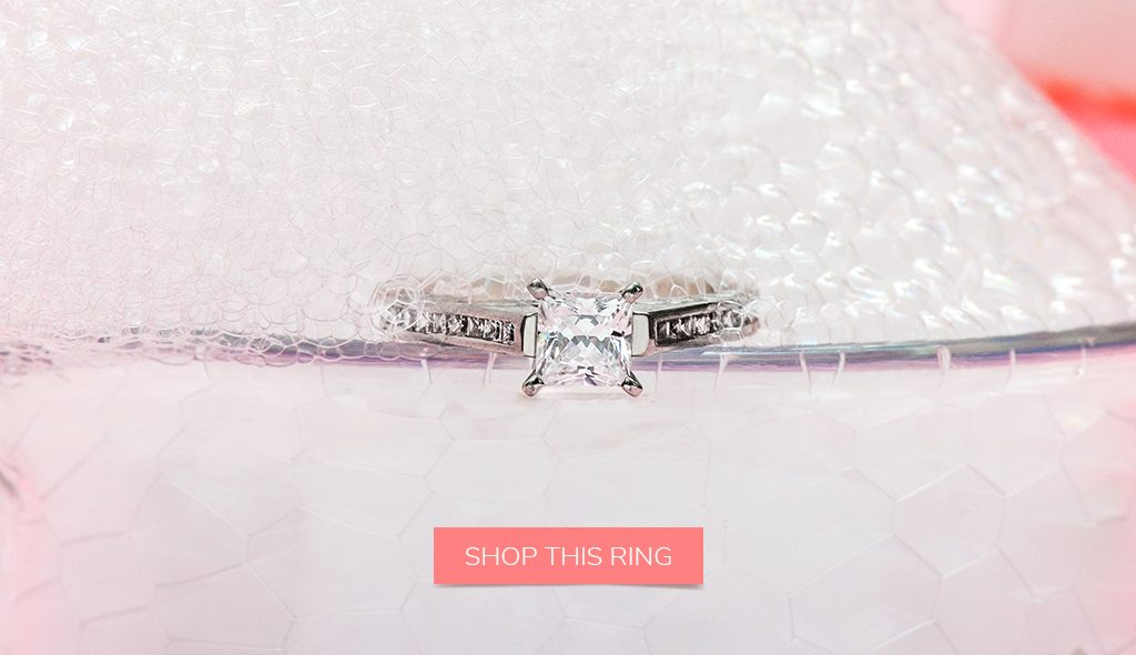 take care of your diamond cleaning princess cut channel set engagement ring