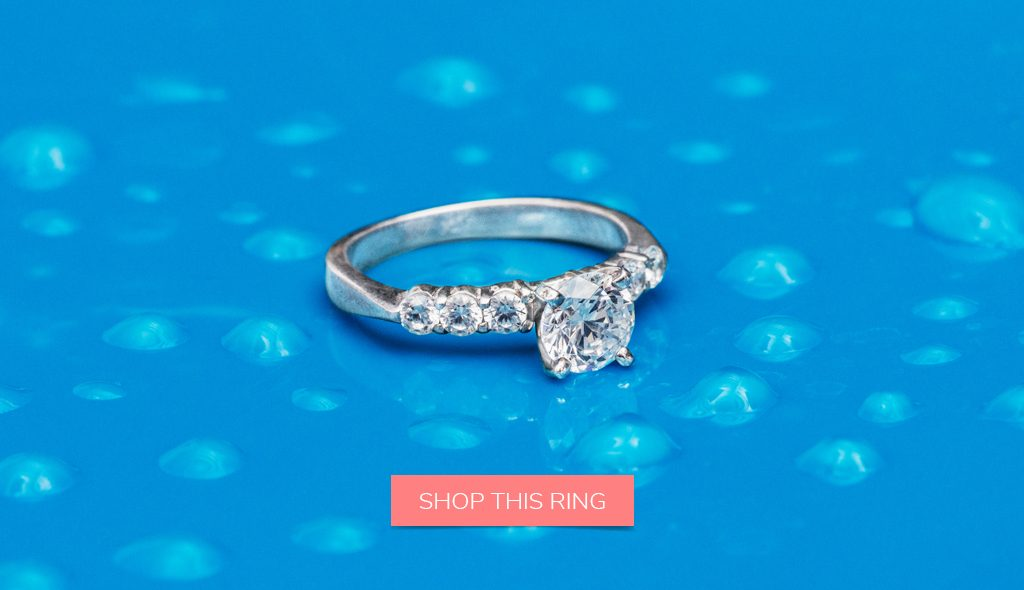 take care of your diamond cleaning side-stone engagement ring