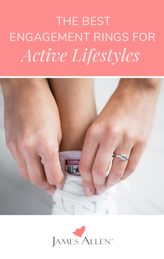 secure engagement rings for active lifestyles pin pinterest