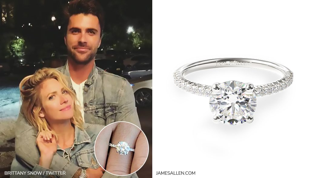 brittany snow pave engagement ring inspiration