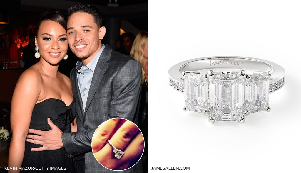 jasmine cephas jones emerald cut pave engagement ring inspiration