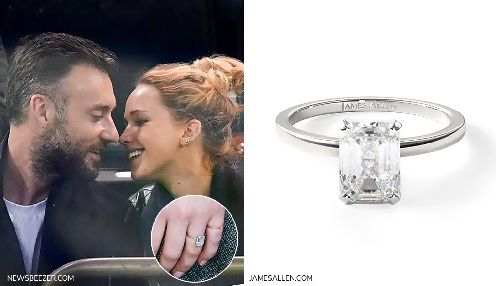 jennifer lawrence solitaire engagement ring inspiration